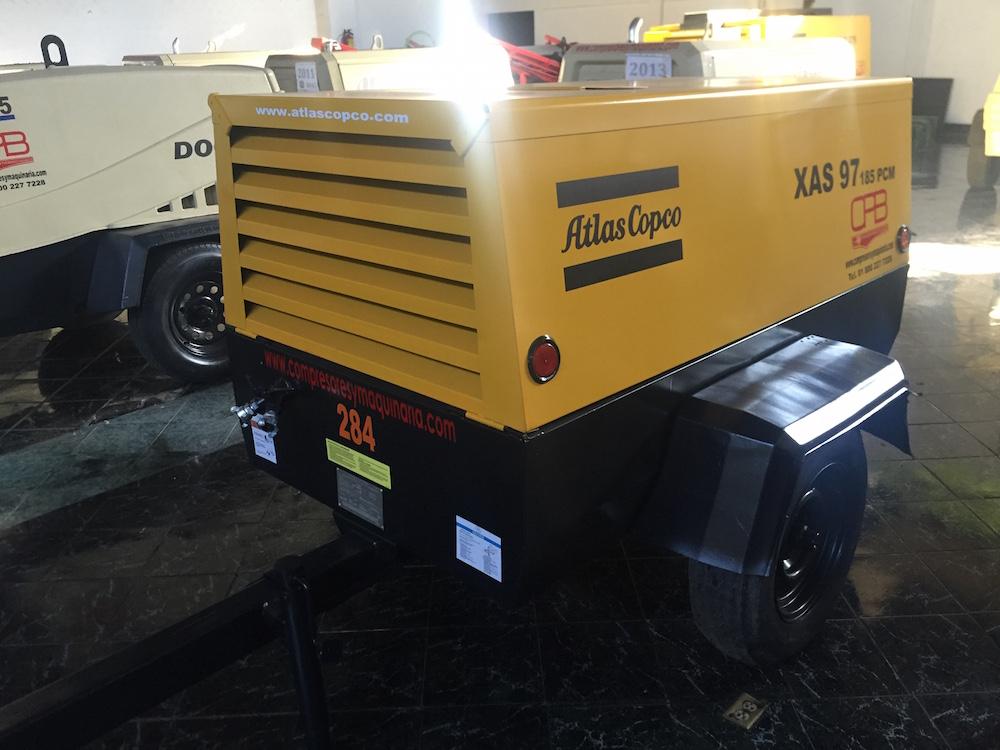 Compresores 185 pcm Atlas copco modelo XAS 97 1