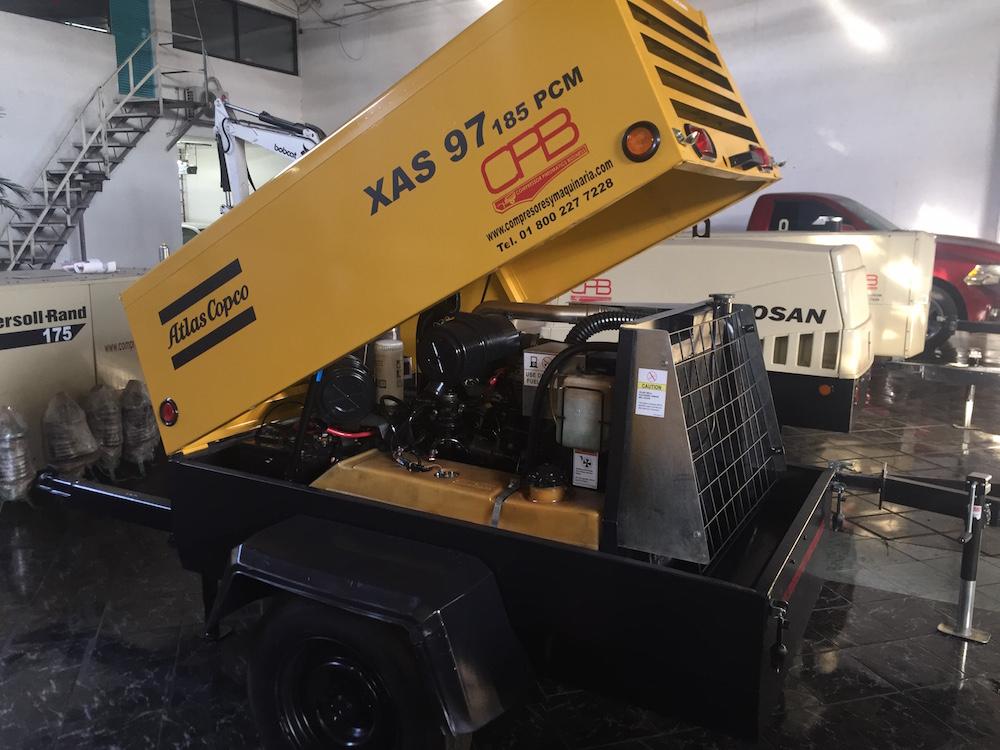 Compresores 185 pcm Atlas copco modelo XAS 97 7